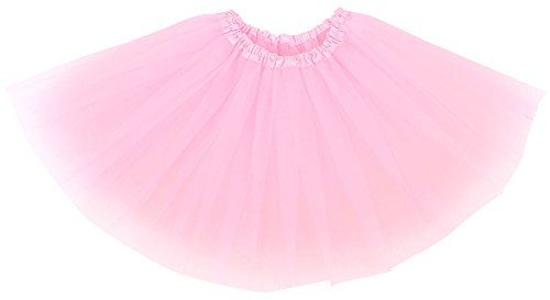 Pink Tulle Layered Tutu (Simplicity Women¡¯s Classic Elastic, 3-Layered Tulle Tutu Skirt, Pink)