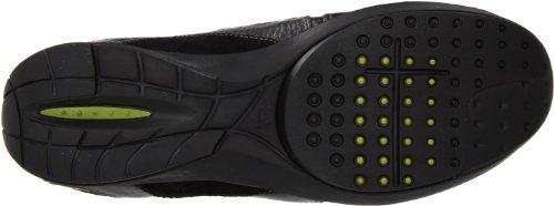 Clarks Kvinna Wave.portage Spets-up Mode Sneaker Svart Läder