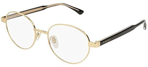 Gucci GG 0189 O- 001 GOLD / BLACK Eyeglasses