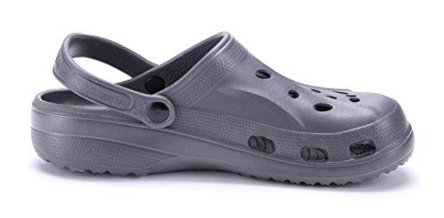 dfd918c62a7b97 ... Schuhtempel24 Damen Schuhe Pantoletten Sandalen Sandaletten Flach Cut  Out Grau ...