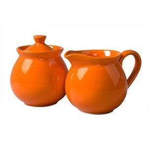 Waechtersbach Fun Factory II Orange Sugar/Creamer Set (Waechtersbach Sugar Dish)