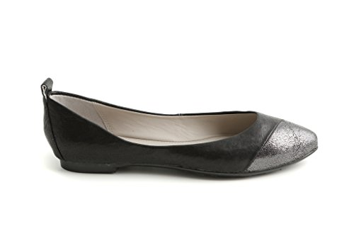 Ballerina 180131 Nana Flats Galaxy Color Antracite Donna Pretty Nero Antracite Nero EqdSOx8Ew