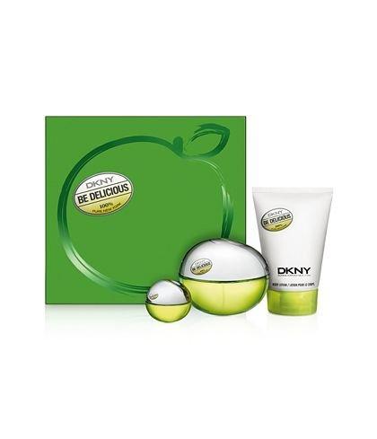 DKNY Be Delicious Be Delightful Set: 3.4 oz Eau de Parfum Spray + .24 oz Eau de Parfum + 3.4 oz Body Lotion