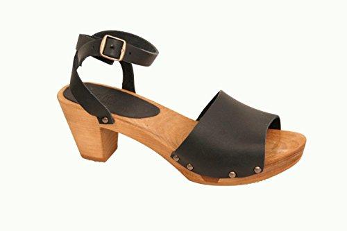 Sanita Yara Flex for Women Size US W 8.5-9 Black. Fancy Sandals Made from Wood and (Womens Clogs Sandals)