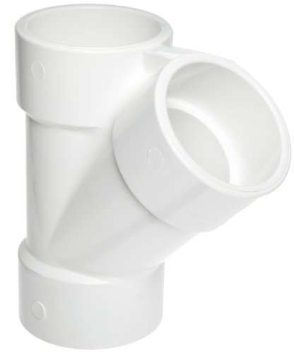 Spears 475 Series PVC Pipe Fitting, Wye, Schedule 40, 2