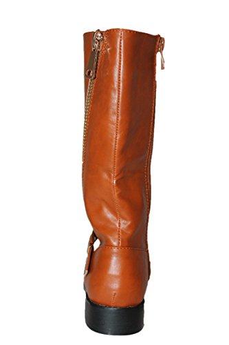 jili-bottes-marron caramel-fille
