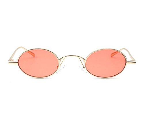 hombre Rojo Dorado de clásico no marco oval estilo metal de hippy sol Retro mujeres para polarizado gafas waxBOWSZ
