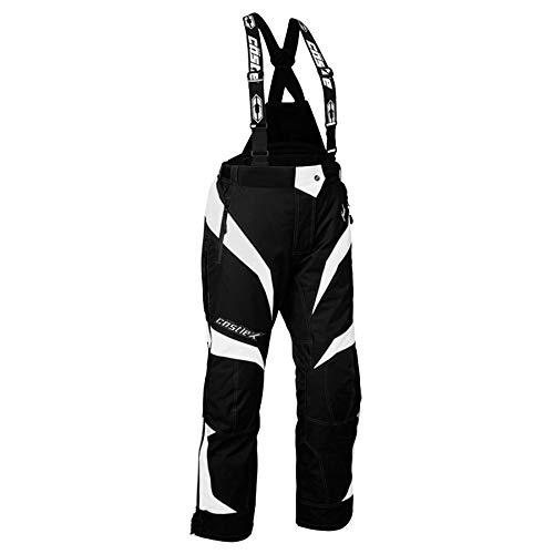 Castle X Fuel G6 Womens Snowmobile Bibs - White - LRG (Womens Snowmobile Pants)
