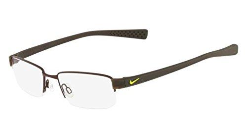 Nike Eyeglasses 8160 211 Shiny Walnut/Cargo Khaki Demo 50 - Eyeglass Nike For Frames Men