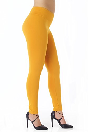 Conceited Fleece Lined Leggings for Women - LFL Mustard Yellow - Large/X-Large ()
