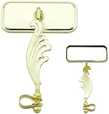 NEW GOLD BIRDCAGE  RECTANGLE BICYCLE MIRROR LOWRIDER
