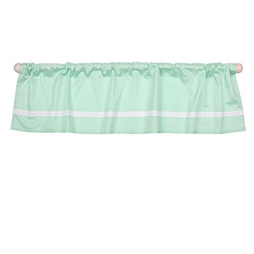 Green Tailored Valance - Mint Green Tailored Window Valance by The Peanut Shell - 100% Cotton Sateen
