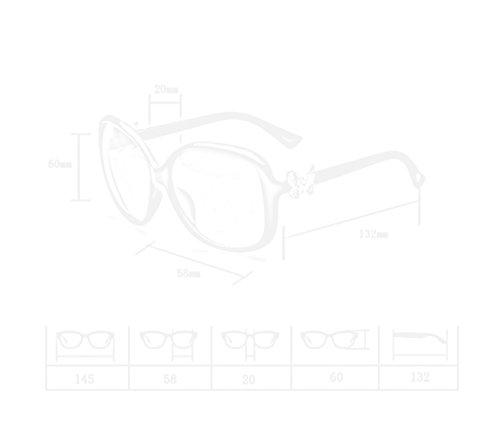 Soleil Lunettes Cadre amp; Grand Rétro Dame De Protection Lym Uv 5 couleur Papillon amp;lunettes 1 Mode FdpqXTYP