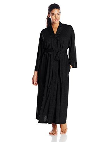 N Natori Women's Plus-Size Congo Robe, Black, 1X