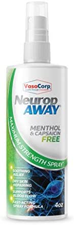 VasoCorp Nerve Pain Relief Spray Menthol and Capsaicin Free Used to Accelerate Results with Arthritis Gloves, Back Pain Massagers, Knee Braces, Tennis Elbow Straps, Neuropathy Socks.