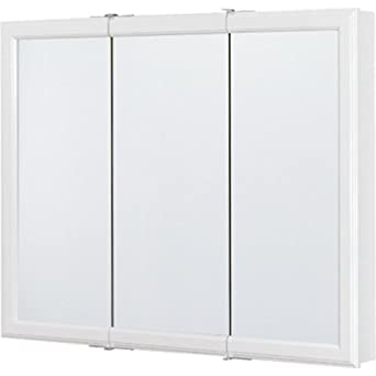 Rsi Home Products CBT36 WH B Aluminum Triview Medicine Cabinet, 36u0026quot;,