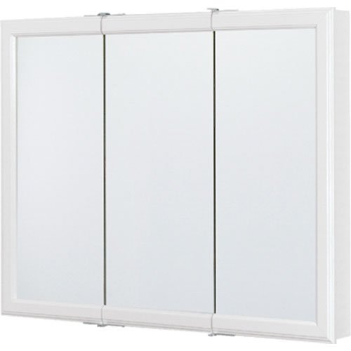 Rsi Home Products CBT36-WH-B Aluminum Triview Medicine Cabinet, 36