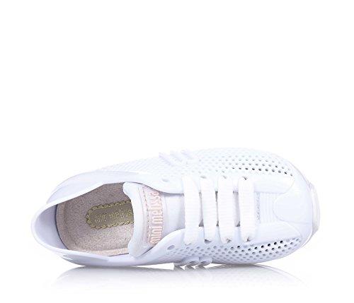 MINI MELISSA - Weißer Schuh aus MELFLEX-Plastik, duftendes Gummi, umweltfreundlich, ökologisch, extrem flexibel, Mädchen