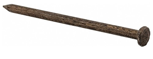 Fluted Shank, 3'' Long, Masonry Nail Flat Head, Uncoated, Grade 2, Steel 1 Pound Box