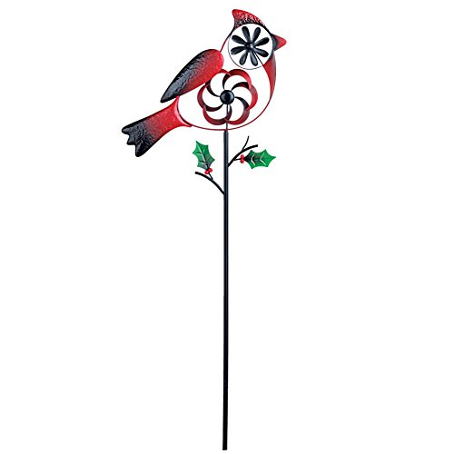 - Collections Etc Cardinal Wind Spinner Christmas Yard Stake