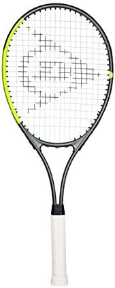 Dunlop Sports SX 27 Pre-Strung Tennis Racket, Grip Size 3/8, Yellow/Grey, 3/8 Grip