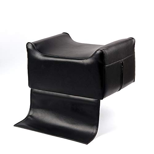 Black Leather Barber Beauty Salon Spa Massage Equipment Styling Chair Child Stools Booster Seat Cushion, High Chairs Auxiliary Heightening Seats Cushion for Baby & Kids (Massage Chair For Kids)
