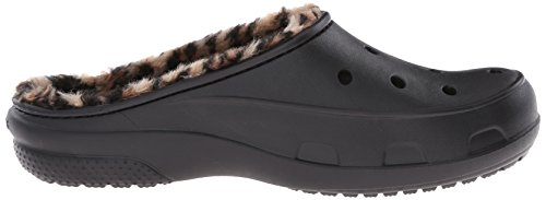 Freesail Crocs Leopard Black Donna Zoccoli Gold Nero Lined qH7Hd