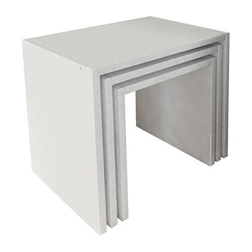 Ada Home Décor Nora Modern Minimalist 3 Piece Set Nesting Table - Ada Table