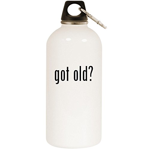 Molandra Products got Old? - White 20oz Stainless Steel Water Bottle with Carabiner
