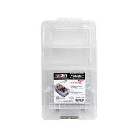 ArtBin 6918AH Transparent 17 Inch Twin Top Art Supply Storage Box, Clear Flambeau Inc.