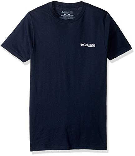 Columbia Apparel Men's PFG Graphic T-Shirt, Colombia Navy/Nation, Medium (Columbia Packed Out)