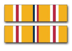 Military Vet Shop US Army Asiatic -Pacific Campaign Medal Ribbon Vinyl Transfer Window Bumper Sticker Decal 3.8