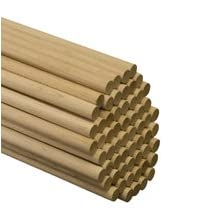 5/8 inch x 48 inch Wood Dowels-Bag of 15
