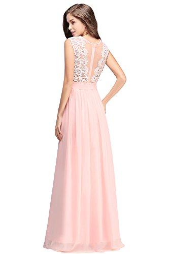 6a1169bdd2c1 ... Damen 2018 Elegant Chiffon Lang Abendkleid Festliche Kleider  Brautjungfernkleid Hochzeit Cocktailkleid MisShow Rosa 8tlmeP0EC