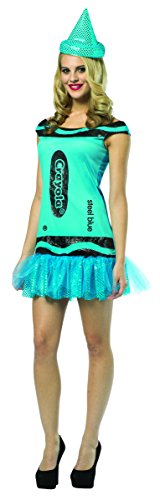 (Rasta Imposta Crayola Glitz And Glitter Tank Dress, Steel Blue, Adult)