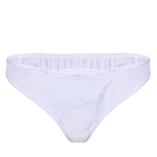 Clearance Sale! Women's Lingerie WEUIE Women Sexy Lace Briefs Panties Thongs Lingerie Underwear Underpants (S, White)