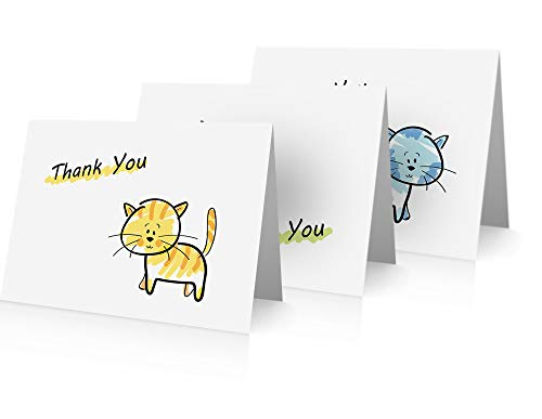 (Cats Thank You Note Cards (24 Foldover Cards and Envelopes))