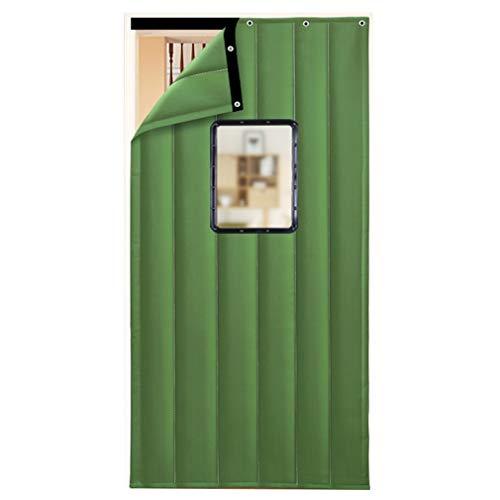 JIANFEI Door Curtain Winter Keep Warm Windproof,2 Colours 18 Size Customizable (Color : B-green, Size : 80x180cm)