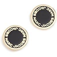 Marc Jacobs Women's Enamel Logo Disc Stud Earrings