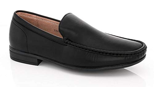 Men's Textured Driving 1 Cut On Low Loafers Karl Franco Slip 7150 Black Shoes Driving Vanucci Adolfo SwBEIn