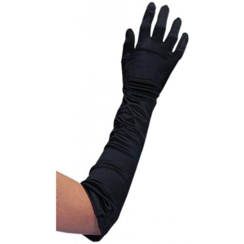 Gloves - Black Satin Lycra 19in Halloween Costume Accessory