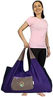 JoYnWell Full-Zip Extra Large Yoga Mat Bag with Sewn-in Mat Holder Straps and 4 Pockets   Fits All Your Yoga A