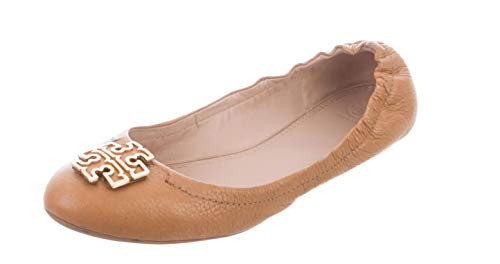 (Tory Burch Melinda Ballet Flats, Tumbled Leather, Royal Tan, 10)