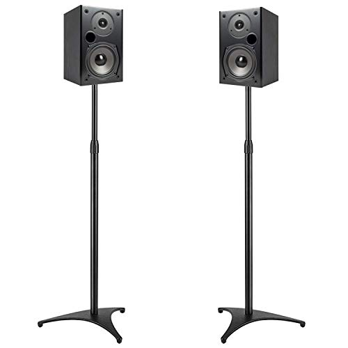 PERLESMITH Floor Speaker Stands for Small Satellite Speakers Extend 30-45 Inch Weight up to 8lbs