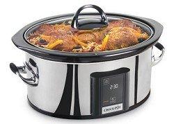 Crock-Pot SCVT650-PS 6-1/2-Quart Programmable Touchscreen Slow Cooker, Stainless Steel by Crockpot