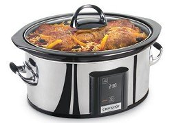 Crock-Pot SCVT650-PS 6-1/2-Quart Programmable Touch Screen Slow Cooker, Stainless Steel