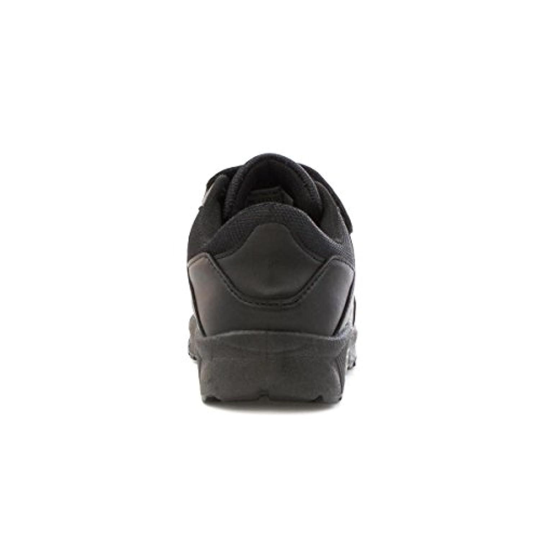 Tick Boys Black Double Touch Fasten Trainer - Size 1 - Black
