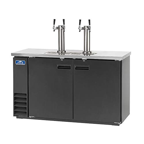 Arctic Air ADD60R-2 61-Inch Double-Tap Direct Draw Draft Beer Cooler/Dispenser/Kegerator, Black, ()