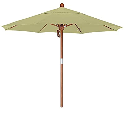 California Umbrella 7.5' Round Hardwood Pole/Fiberglass Rib/Stainless Steel Pulley Lift -  - shades-parasols, patio-furniture, patio - 31orvCtB0lL. SS400  -