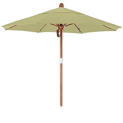 California Umbrella 7.5' Round Hardwood Pole Fiberglass Rib Market Umbrella, Stainless Steel Hardware, Pulley Lift, Black Olefin -  - shades-parasols, patio-furniture, patio - 31orvCtB0lL. SS400  -